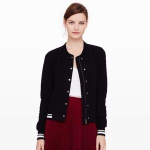 Club Monaco M Cotton Quilted Bomber Jacket